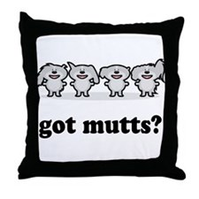 got mutts? Throw Pillow