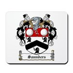 Saunders Family Crest Mousepad