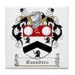 Saunders Family Crest Tile Coaster