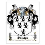 Savage Family Crest Small Poster