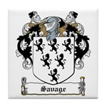 Savage Family Crest Tile Coaster