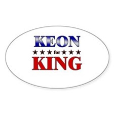 KEON for king Oval Decal