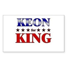 KEON for king Rectangle Decal