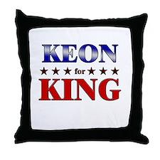 KEON for king Throw Pillow