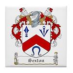 Sexton Family Crest Tile Coaster