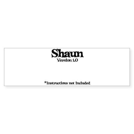 Shaun - Version 1.0 Bumper Sticker