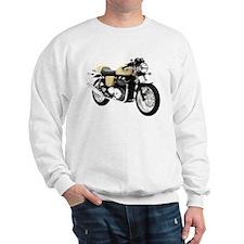 Triumph Thruxton Motorbike Yellow Sweatshirt