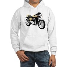 Triumph Thruxton Motorbike Yellow Hoodie
