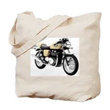 Triumph Thruxton Motorbike Yellow Tote Bag