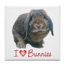bunny lover Tile Coaster