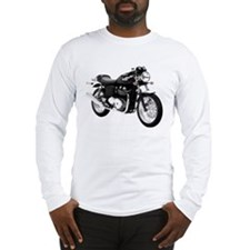 Triumph Thruxton Motorbike Black Long Sleeve T-Shi