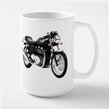 Triumph Thruxton Motorbike Black Large Mug