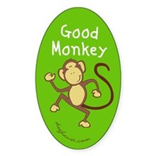 Good Monkey Oval Decal