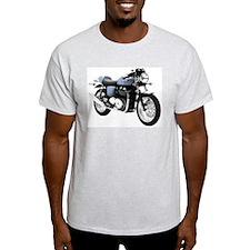 Triumph Thruxton Motorbike Blue T-Shirt