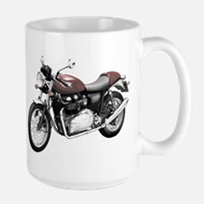 Triumph Thruxton Motorbike Red Mug
