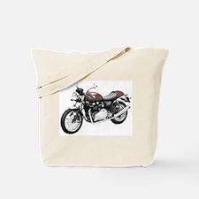 Triumph Thruxton Motorbike Red Tote Bag