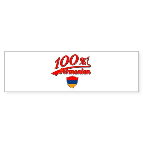 100% Armenian Bumper Sticker