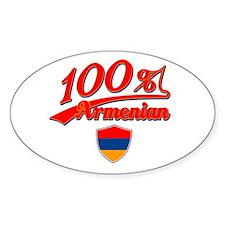 100% Armenian Oval Decal