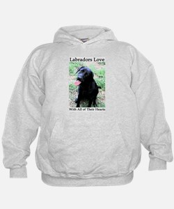Labradors Love With All of Their Heart Hoodie