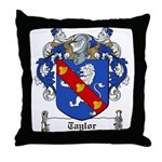 Taylor Family Crest Throw Pillow