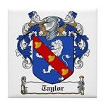 Taylor Family Crest Tile Coaster