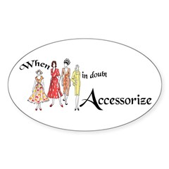 Fashion Accessorize Oval Sticker
