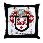 Thompson Family Crest Throw Pillow