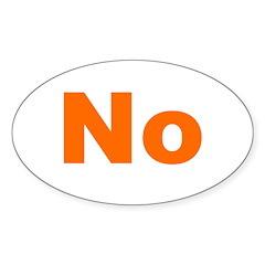 No orange Oval Decal