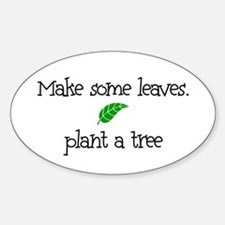 Make Some Leaves... Oval Decal
