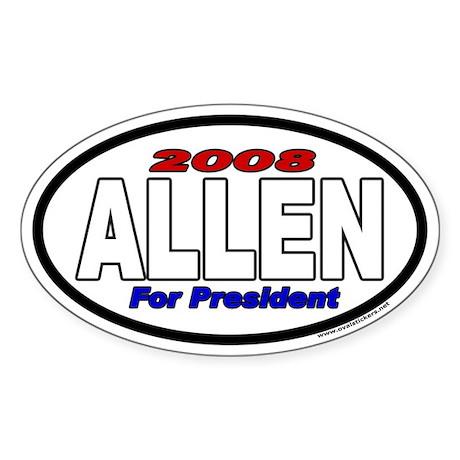 Allen For President 2008 Euro Style Oval Sticker
