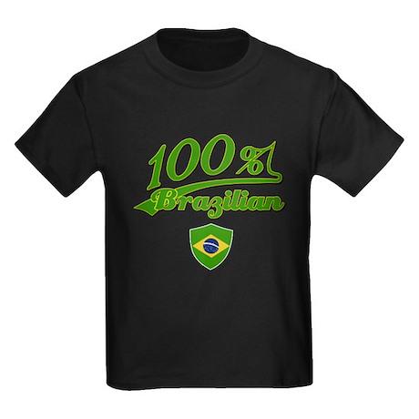 100% Brazilian Kids Dark T-Shirt