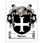 Upton Family Crest Small Poster