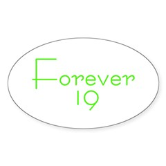 Forever 19 green Oval Decal