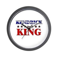 KENDRICK for king Wall Clock