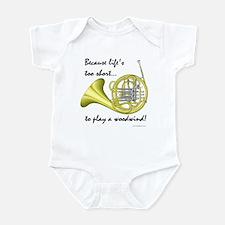 Horn-Life's Too Short Infant Bodysuit