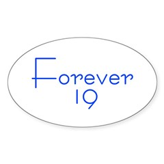 Forever 19 blue Oval Decal