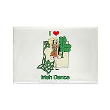 I Love Irish Dance Rectangle Magnet