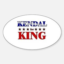 KENDAL for king Oval Decal