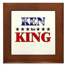 KEN for king Framed Tile