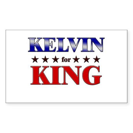 KELVIN for king Rectangle Sticker
