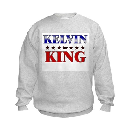 KELVIN for king Kids Sweatshirt