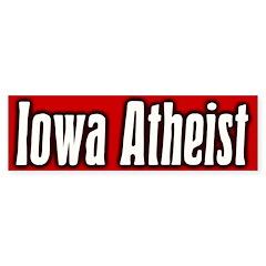 Iowa Atheist Bumper Bumper Sticker