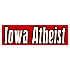 Iowa Atheist Bumper Bumper Sticker