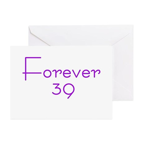 Forever 39 purple Greeting Cards (Pk of 10)