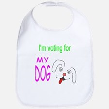 Voting For My Dog Bib