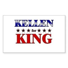 KELLEN for king Rectangle Decal