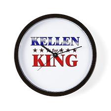 KELLEN for king Wall Clock