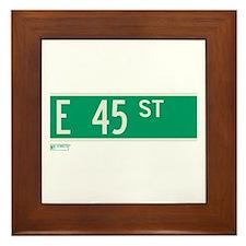45th Street in NY Framed Tile