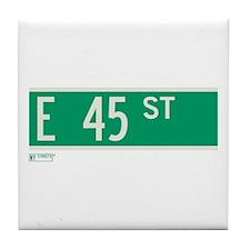 45th Street in NY Tile Coaster