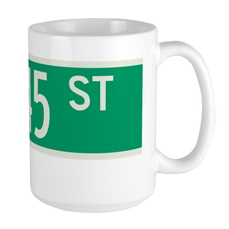 45th Street in NY Large Mug